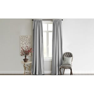Šedý závěs Home De Bleu Blackout Curtain, 140 x 240 cm