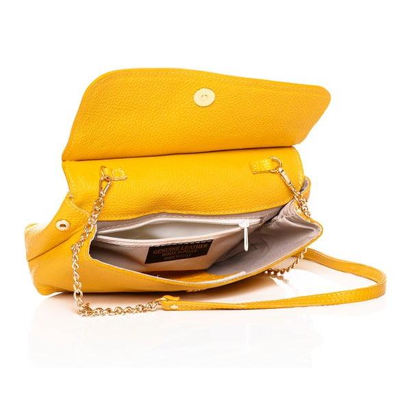 Kožená kabelka Envelope Yellow