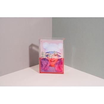 Ramă foto cu apă DOIY Unicorn, 11 x 16 cm, roz
