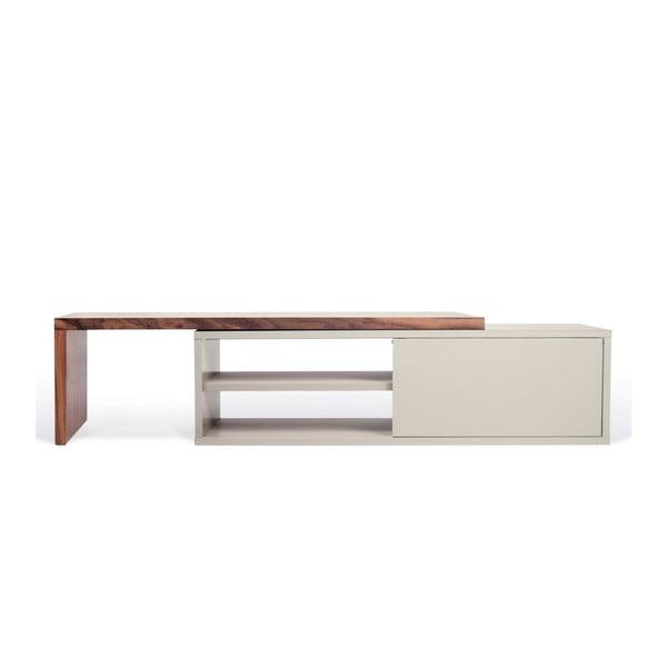 Move szürke variálható TV-állvány diófa furnérral - TemaHome
