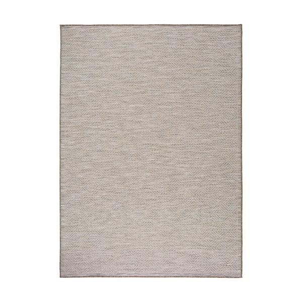 Dywan w srebrnym kolorze Universal Kiara odpowiedni na zewnątrz, 150x80 cm