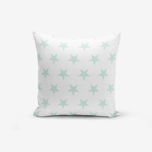 Față de pernă cu amestec din bumbac Minimalist Cushion Covers Cloud Blue Star, 45 x 45 cm