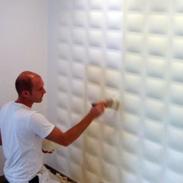 Bambusové panely na zeď Pixels, 10 ks