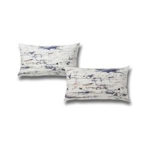 Sada 2 povlaků na polštář z čisté bavlny Casa Di Bassi Marble, 40 x 80 cm
