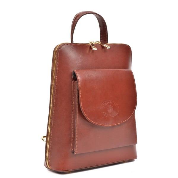 Tmavě červený kožený batoh Anna Luchini Zunna