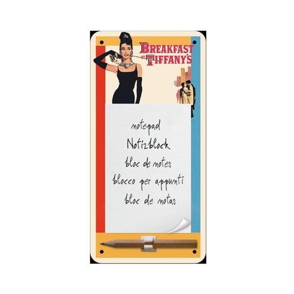 Zápisník na lednici Audrey Hepburn