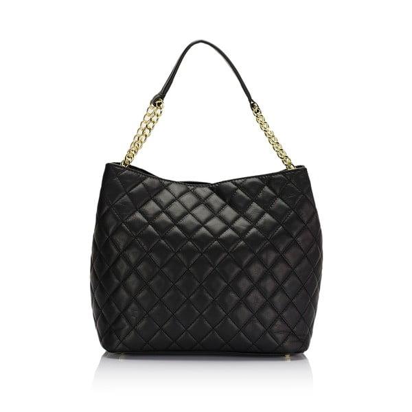 Černá kožená kabelka Markese Liberata