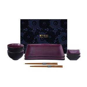 Vínově červený set na sushi Tokyo Design Studio Glassy