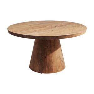 Măsuță auxiliară din lemn de salcâm Kare Design Tornillo, înălțime ajustabilă
