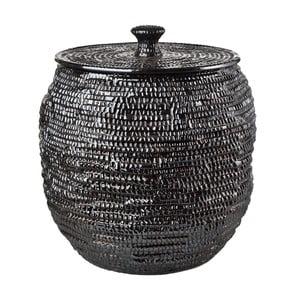 Velká černá keramická dóza pols potten XXL, výška 47,5 cm