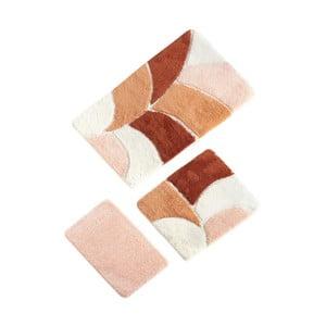 Sada 3 koupelnových předložek v lososové barvě Verge Bath Mat Certa
