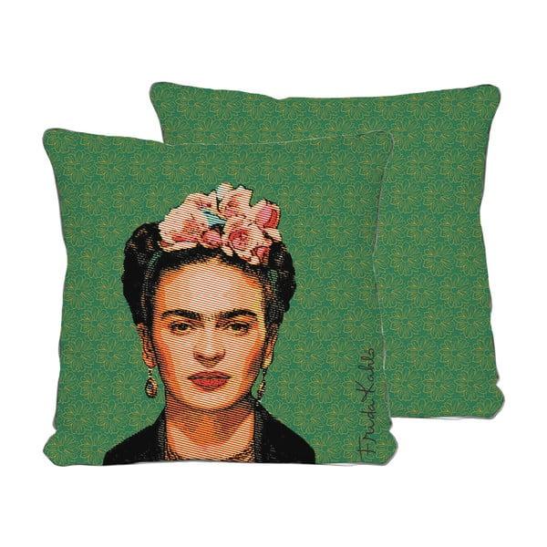 Zelený polštář Madre Selva Frida,45x45cm