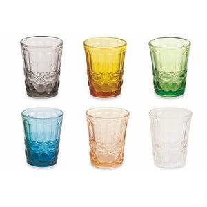 Sada 6 barevných sklenic Villa d'Este Nobilis Bicchieri,240ml