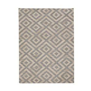 Vlněný koberec Bakero Luisa Blue/Natural, 60x90cm