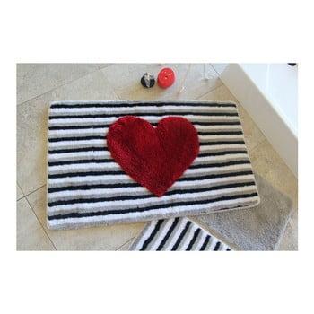 Set 3 covorașe de baie Confetti Bathmats Heart de la Chilai Home by Alessia
