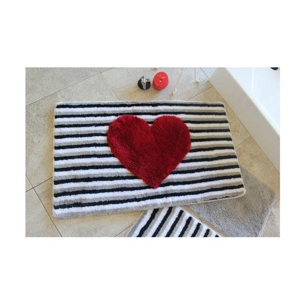 Sada 3 kúpeľňových predložiek Alessia Heart Line