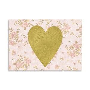 Plakát Americanflat Heart on Pink, 30x42cm