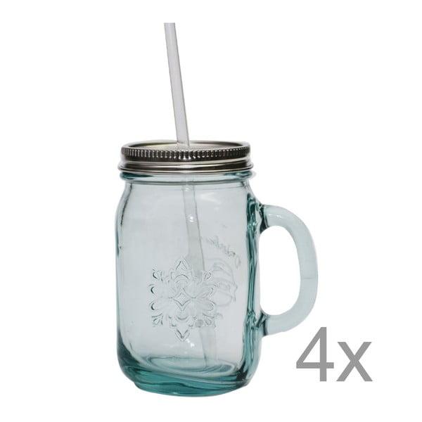 Sada 4 sklenic na limonádu Jarra, 550 ml