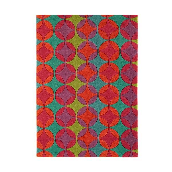 Koberec Asiatic Carpets Harlequin Retro Red, 120x170 cm