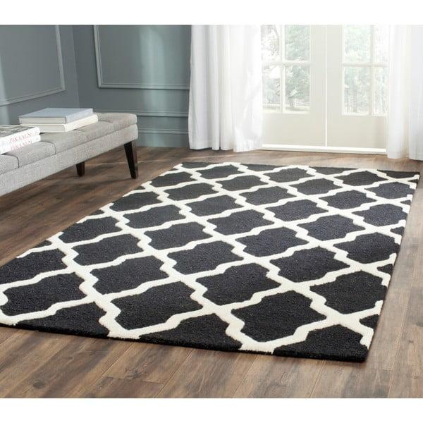 Černý vlněný koberec Safavieh Ava, 121x182 cm