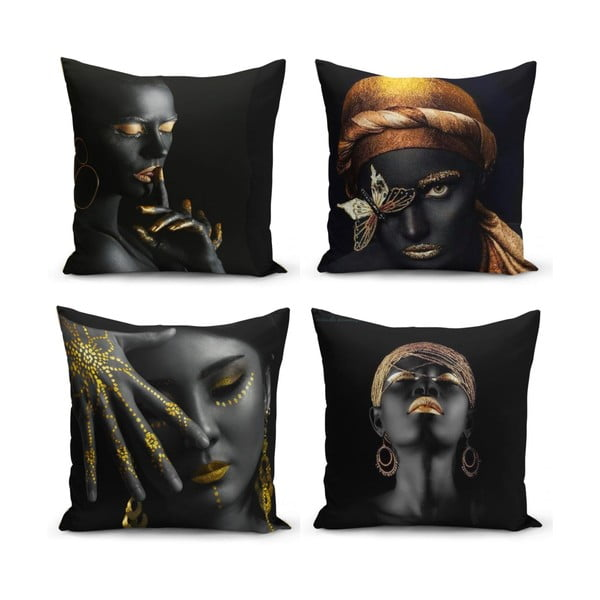 Set 4 fețe de pernă Minimalist Cushion Covers Luzo, 45 x 45 cm