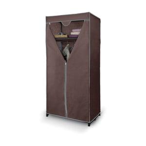 Hnědá šatní skříň s policí Domopak Living Closet
