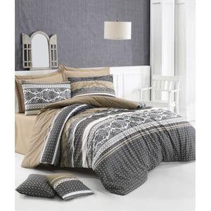Lenjerie de pat cu cearșaf din bumbac Retro, 200 x 220 cm