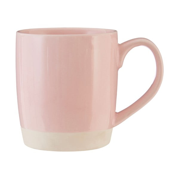 Cană din gresie ceramică Premier Housewares, 370 ml, roz