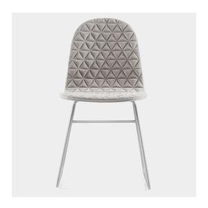 Židle Mannequin Triangle, krémová