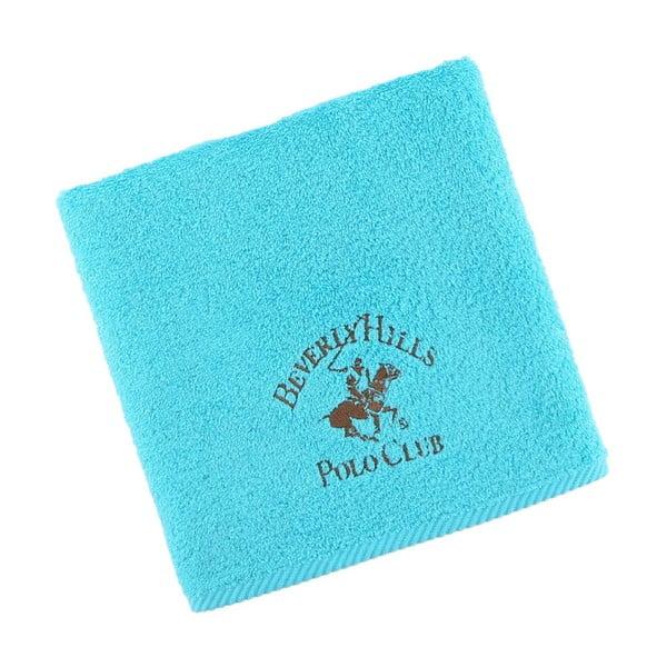 Tyrkysový bavlněný ručník BHPC, 50x100 cm