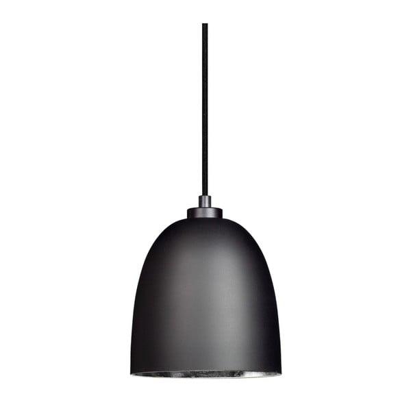 Černé matné závěsné svítidlo s vnitřkem ve stříbrné barvě Sotto Luce Awa