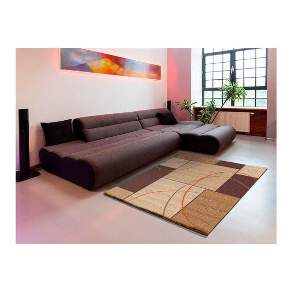 Hnědý koberec Universal Delta Square, 160 x 230 cm