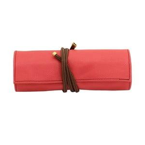 Organizér Ascot Friedrich Lederwaren Roll Coral Pink, délka 20 cm