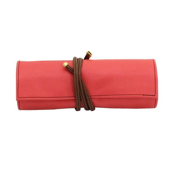 Šperkovnice Ascot Roll Coral Pink, 20x8x6 cm