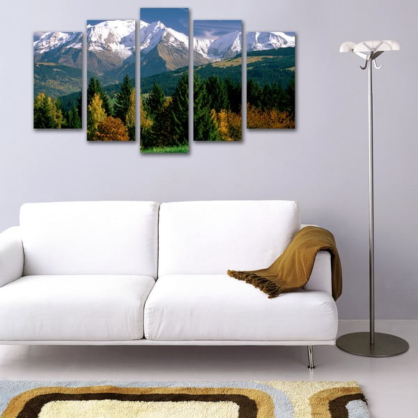 5dílný obraz Hory