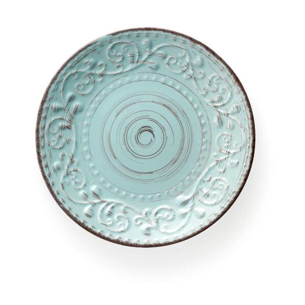 Tyrkysový dezertný tanier z kameniny Brandani Serendipity, ⌀ 21 cm