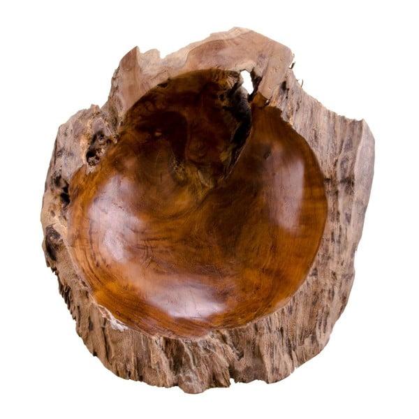 Bol din lemn de tec House Nordic Rio, diametru 40 cm