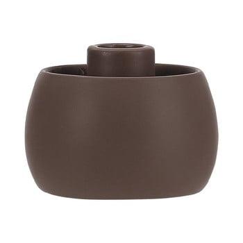 Suport din ceramică pentru lumânare A Simple Mess Tiana, ⌀ 9 cm, maro închis de la A Simple Mess
