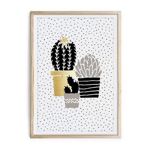 Tablou/poster înrămat Really Nice Things Cactus Family, 40 x 60 cm