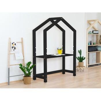 Birou din lemn în formă de casă Benlemi Stolly,39x97x133cm, negru imagine