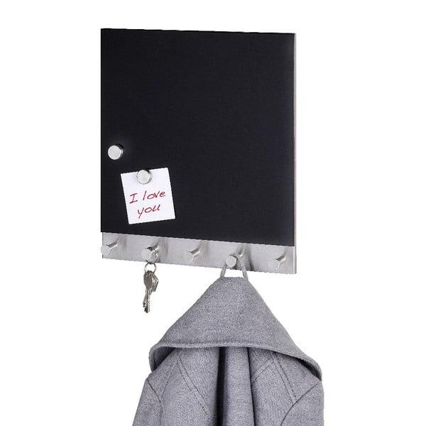 Magnetický věšák na kabáty s nástěnkou Wenko Black
