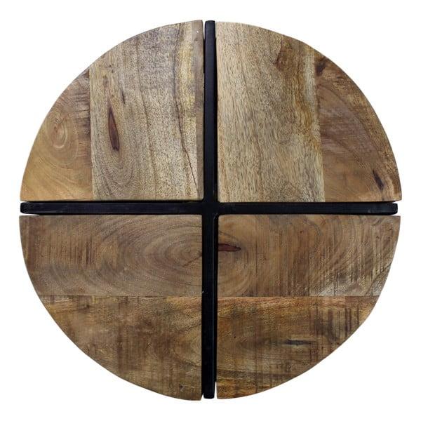 Příruční stolek z mangového dřeva HSM collection Jackso, , 40 x 51 cm