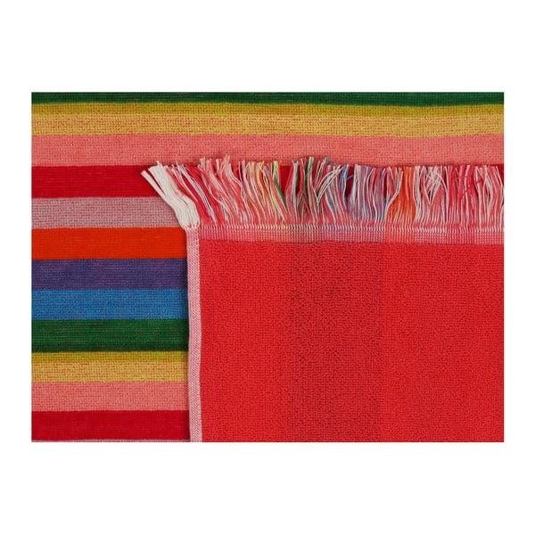 Barevná plážová osuška z bavlny Havlu, 70 x 140