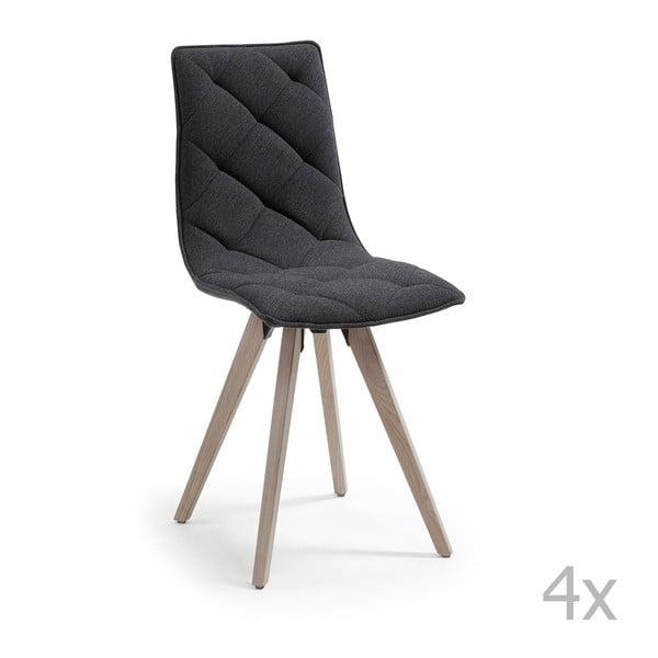 Sada 4 černých jídelních židlí La Forma Tuk