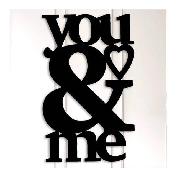 You & Me fekete fém fali dekoráció