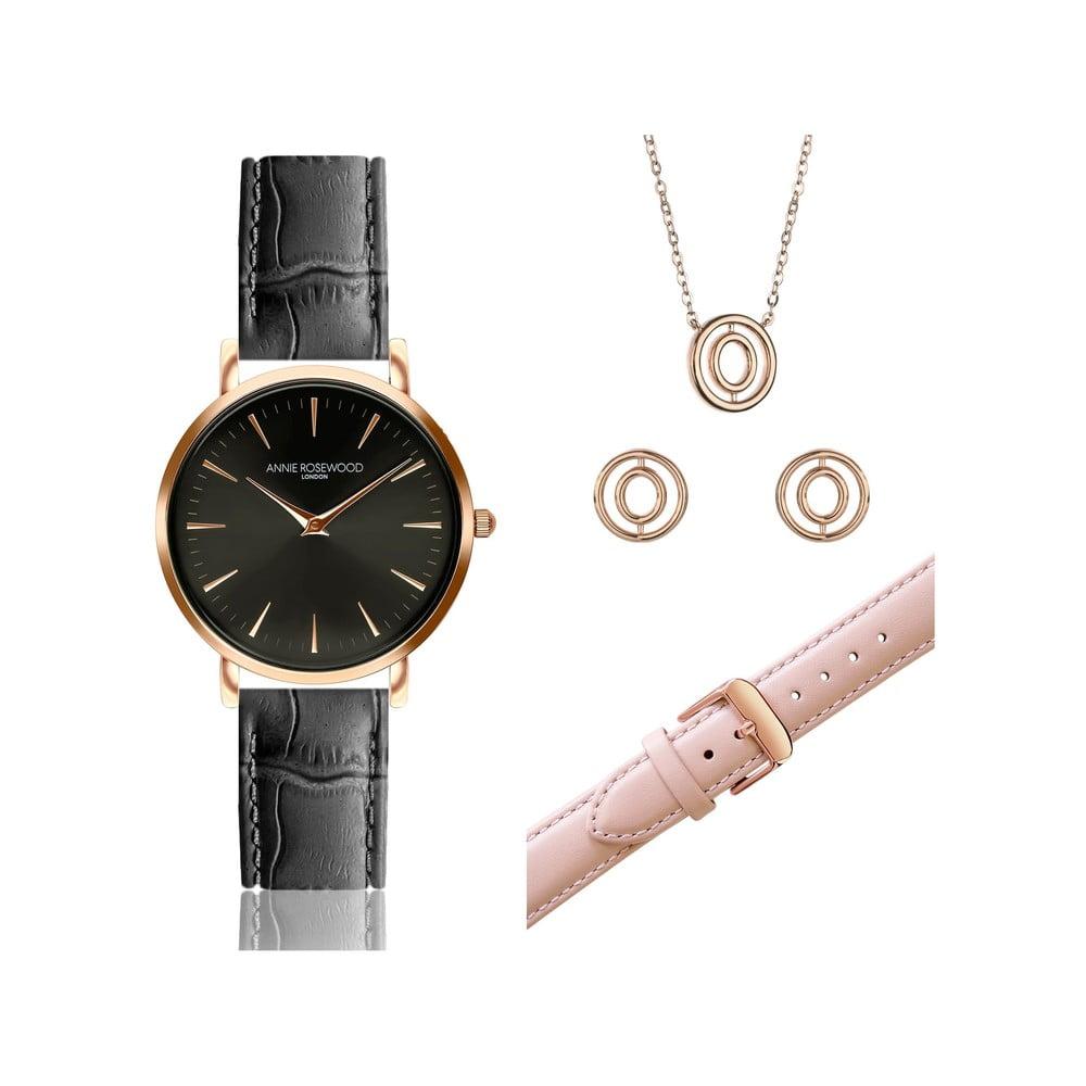 Sada hodinek snáhradním páskem, náušnicemi a náhrdelníkem Annie Rosewood