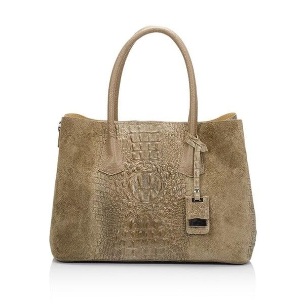 Hnědošedá kožená kabelka Markese Procris