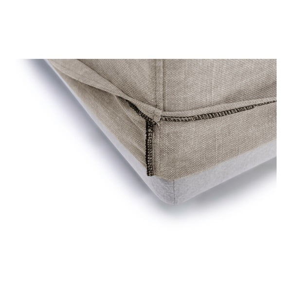 Béžová třímístná pohovka s lenoškou na levé straně SoftNord Portland