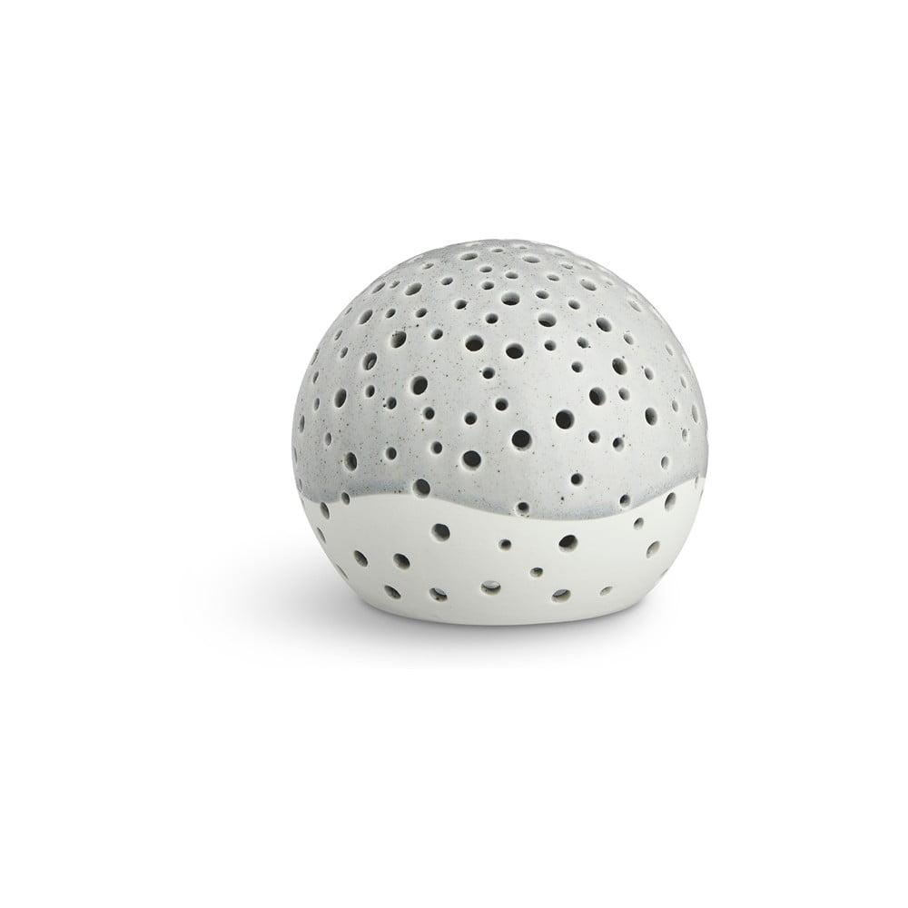 Šedý vánoční svícen z kostního porcelánu Kähler Design Nobili, ⌀ 12 cm