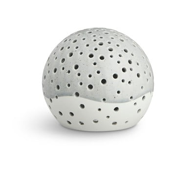 Sfeșnic din porțelan bone china Kähler Design Nobili, ⌀ 12 cm, gri imagine